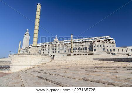 Barcelona,spain-march 13,2012: Olympic Stadium,estadi Olimpic De Montjuic Lluis Companys, Exterior F