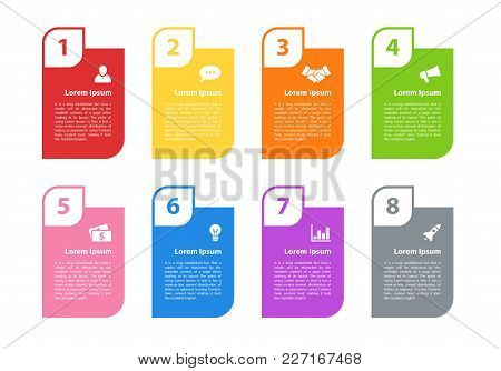 Infographic Design Business Concept Vector Illustration With 8 Steps Or Options Or Processes Represe