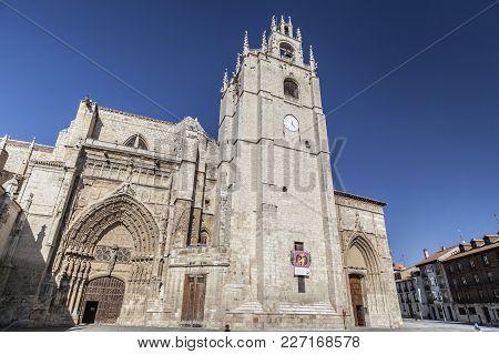 Palencia,spain-november 22,2012: Cathedral Of Palencia, Castilla Leon, Spain.