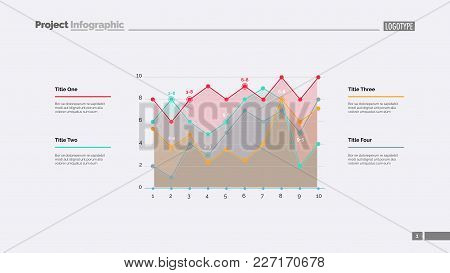 Detailed Line Graph Slide Template. Business Data. Graph, Diagram, Design. Creative Concept For Info