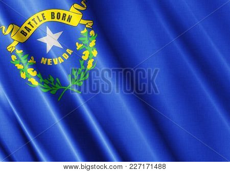 Us State Nevada Textured Proud Country Waving Flag Close
