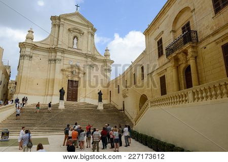 The Church At Victoria On Gozo Island, Malta