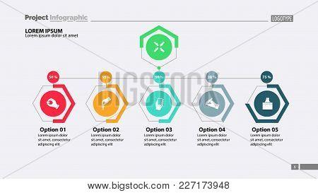 Four Options Under Main Point Slide Template. Business Data. Graph, Chart, Design. Creative Concept
