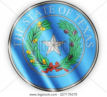 Us State Texas Textured Proud Country Waving Flag Close