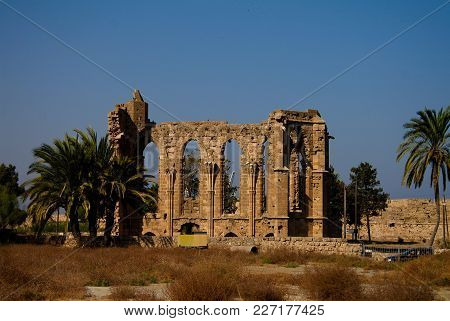 Ruins Of Church Of St. George Of The Latins At Famagusta In Cyprus