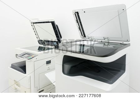 Photocopier Is A Machine That Makes Paper Copies Of Documents And Other Visual Images ,close-up Mult