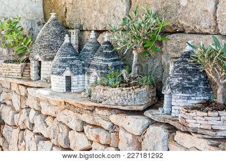 Miniature Of Trulli In Alberobello In Apulia