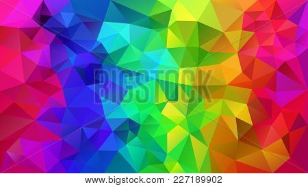 Vector Abstract Irregular Polygonal Background - Triangle Low Poly Pattern - Rainbow Color Full Spec