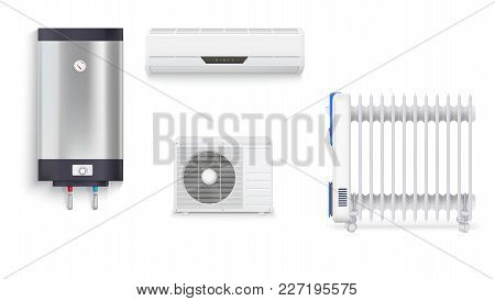 Electric Oil Radiator, Air Conditioning, Water Heater With Chrome Metal Of Front Side, Oil Filled He
