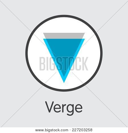 Verge Vector Pictogram For Internet Money. Cryptocurrency Sign Icon Of Xvg And Coin Illustration For