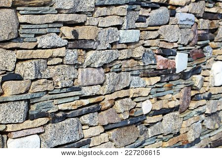 Fragment Of A Wall From A Chipped Stone, Background