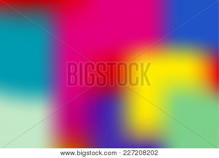 Colorful Holographic Background.  Bright Fluid Liquid. Neon Holography Texture. Hologram Glitch Effe