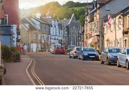 A Town View In The Fishing Village Of Beer. East Devon. Uk