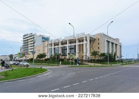 The Building Of The Congress Center Of The Radisson Blu Resort On The Street Blue Imeretinskaya Lowl