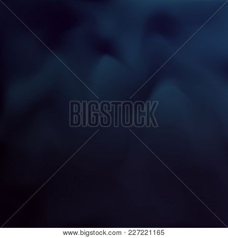 Vector Color Blur Background. Abstract Dark Blue Texture. Design Background. Vector Mesh.