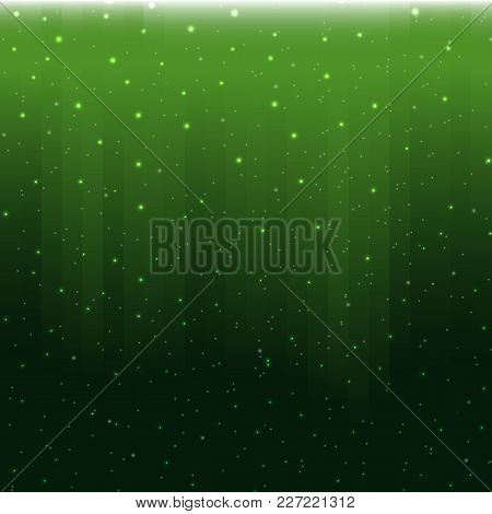 Vector Magical Background With Stars. Digital Modern Beautiful Template. Vector Holiday Snow Curtain