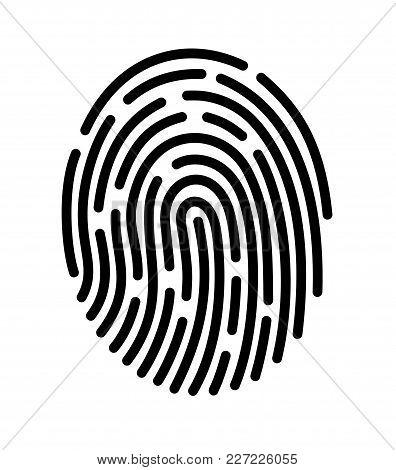 Mobile Application For Fingerprint Recognition. Vector Illustration Eps10 File.