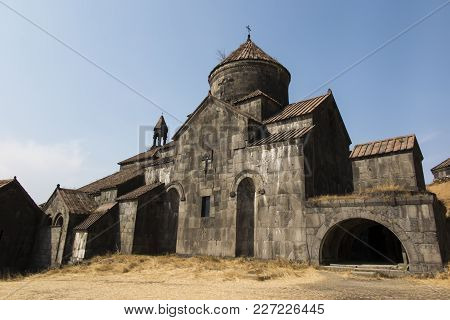 Haghpat Monastery, In Armenia, World Heritage Site By Unesco.  Church Of St. Nshan With The Entrance