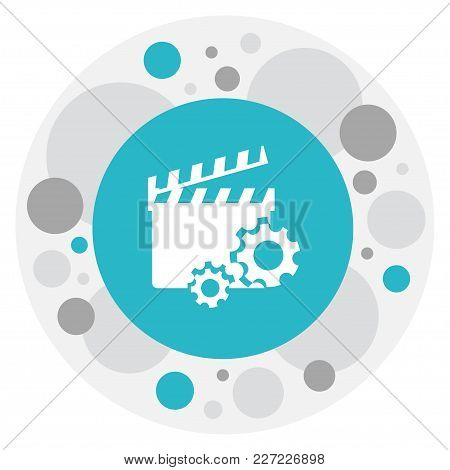 Illustration Of Filming Symbol On Movie Action Icon. Premium Quality Isolated Clapperboard Element I