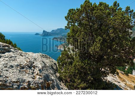 View From The Sudak Fortress On The Coast. View From The Sudak Fortress. View From The Genoese Fortr