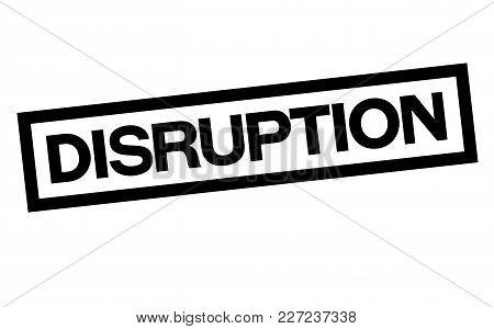 Disruption Stamp. Typographic Label, Stamp Or Logo