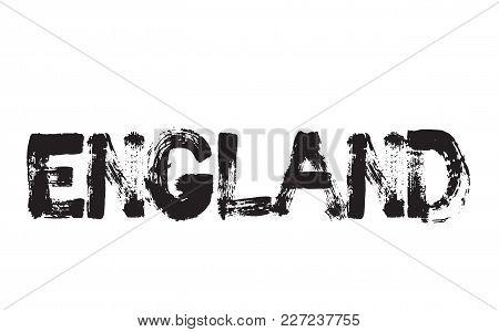 England Stamp. Typographic Label, Stamp Or Logo