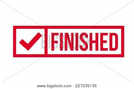 Finished Stamp. Typographic Label, Stamp Or Logo