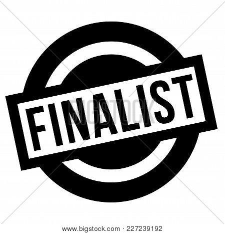 Finalist Stamp. Typographic Label, Stamp Or Logo