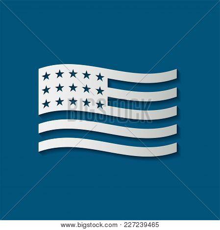 Icon Usa Flag,american National Flag,vector Illustration