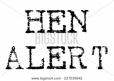High Alert Typographic Stamp. Typographic Sign, Badge Or Logo.