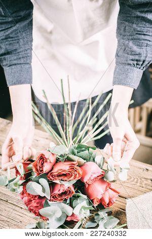 Flowers Arrangement Bouquets As Decoration For Wedding