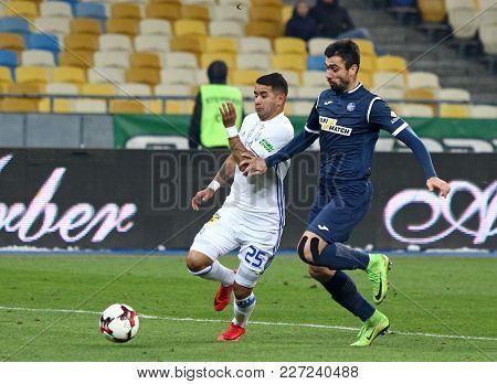 Kyiv, Ukraine - February 18, 2018: Ukrainian Premier League Game Fc Dynamo Kyiv V Olimpik Donetsk. D