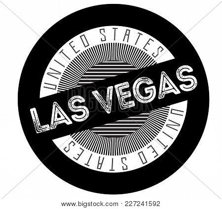Las Vegas Typographic Stamp. Typographic Sign, Badge Or Logo.