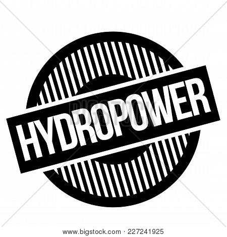 Hydropwer Typographic Stamp. Typographic Sign, Badge Or Logo