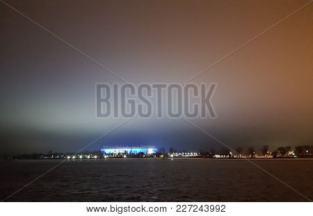 Russia, Rostov-on-don, February 15, 2018: Football Stadium Rostov Arena. The Stadium For The 2018 Fi
