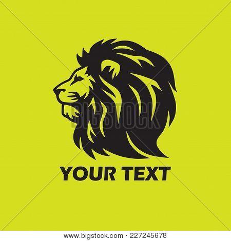 Stylized Lion Logo Design Template Vector Illustration