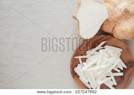 Raw Jicama, Mexican Turnip, Ketogenic Food, Low Carb Food