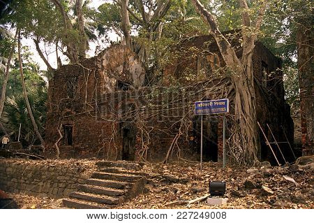 Dilapidated Historic British Officers Quarters At Ross Island, Port Blair, Andaman, India, Asia