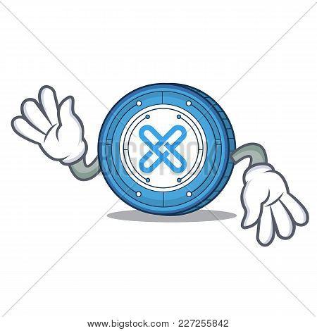Crazy Gxshares Coin Mascot Cartoon Vector Illustration