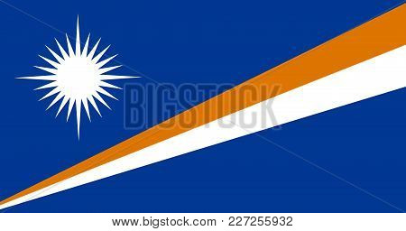 Flag In Colors Of Marshall Islands, Vector Image