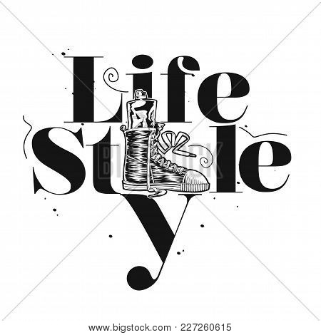 Life Style Hand Drawn Fashion Style On White Background Vector Illustration Design.