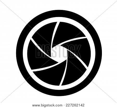 Camera Objective Icon Illustration On White Background