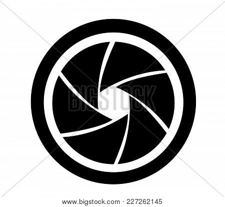 Camera Objective Icon Vector Illustration On White Background