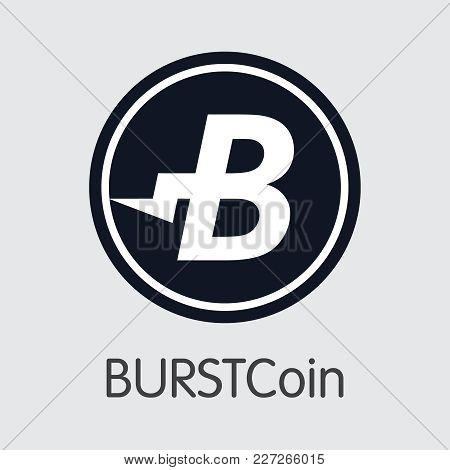 Burstcoin - Trading Sign Of Fintech Industry, Finance Digitization. Modern Logo. Premium Quality Ill