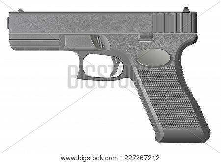 Pistol Isolated On White Background Vector Illustration