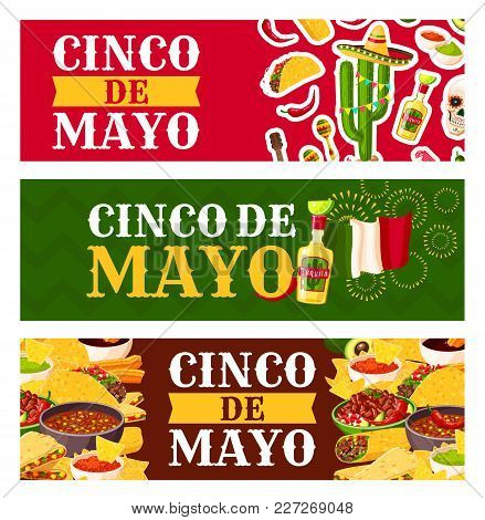 Mexican cinco de mayo vector photo free trial bigstock mexican cinco de mayo holiday festive symbols and fiesta party food greeting banner chili pepper m4hsunfo