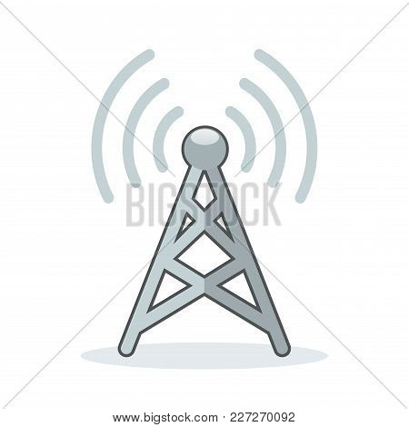 Illustration Of Broadcast Icon On White Background