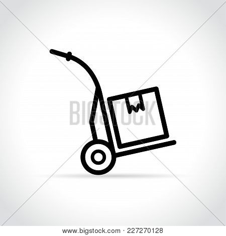 Illustration Of Hand Trolley Icon On White Background