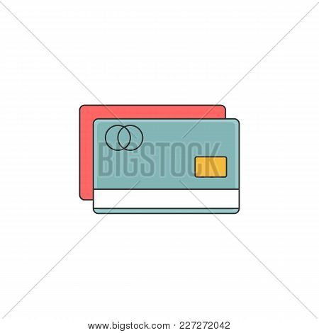 Debit And Credit Card Vector Outline Icon Illustration Graphic Design