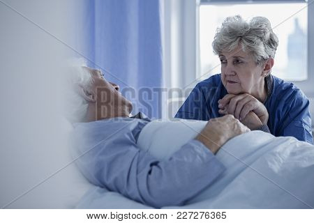 Senior Woman In The Hospital